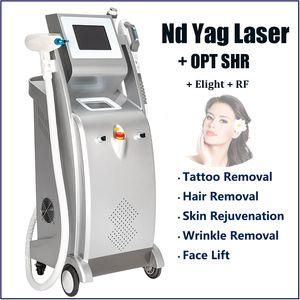 5 IN 1-й ИАГ-лазера машины все удаления татуировки цвета 3000W IPL лазерная эпиляция Nd YAG чернила татуировки лазерная машина