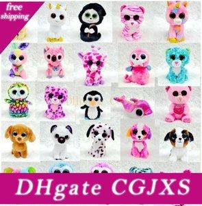 25 Cm Osterhase Ty Beanie Boos Big Eyes-Kaninchen-Plüsch-Spielzeug-Puppe Baby-Elefant Schildkröte Giraffe Keychain Plüsch-Puppe Tierspielzeug