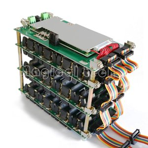 Storage Boxes 48V Power Wall 18650 Holder 48v Battery Pack Lithium Balancer PCB 13s 14s 20A 45A BMS Battery Case