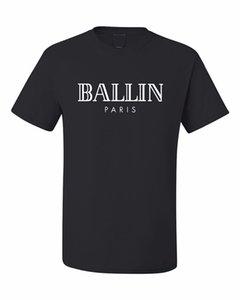 2019 Summer T-shirt Marque de vêtements pour hommes O-Neck Ballin Paris Fashion Urban Graphic unisexe Hommes Imprimer manches courtes T-shirt