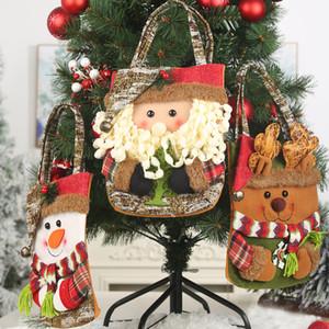 Christmas Decoration Bark Gift Bag Creative 3D Elderly Snowman Deer Gifts