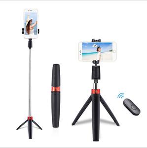 Sem fio Bluetooth Remote selfie vara tripé destacável dobrável suporte ajustável tripé Extensível Leve Mini Selif Tripé