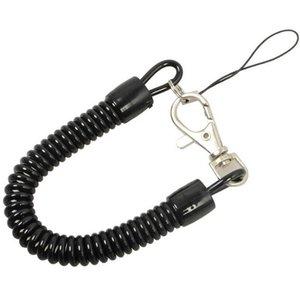 Corde ressort tactique rétractable en plastique élastique de sécurité vitesse outil pour Airsoft randonnée en plein air Camping Anti-lost Téléphone Keychain SC080