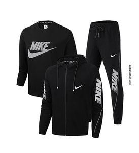2020 Новый 3 шт Tracksuit Set Мужчины Толстовка с Sweatpants Casual Спортивная одежда костюм с длинным рукавом моды куртка