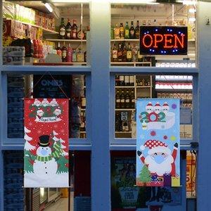 2020 Weihnachts Quarantäne-Familie der Maske Flagge Schneemann Weihnachtsmann, Fenster, Tür Esstisch Wand Dossal Flagge Mode Weihnachten Zubehör F92501