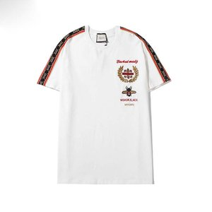GUCCI Mens Fashion Stylist camisetas Homens Mulheres Hip Hop Camiseta manga curta de alta qualidade Designers Printing T Shirt Tops T-S-XXL # 89561
