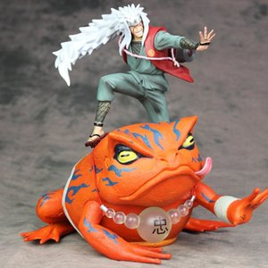 2pcs set 26cm Naruto Jiraiya Gama Bunta action figure PVC toys collection doll anime cartoon model for friend gift MX200811