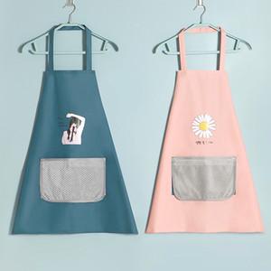 멀티 컬러 패션 앞치마 단색 큰 포켓 가족 쿡 홈 베이킹 청소 도구 턱받이 베이킹 예술 앞치마 요리