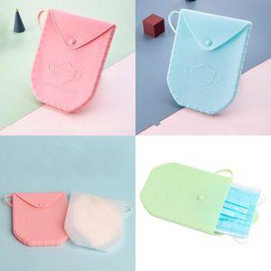 Máscara Caixa de armazenamento de silicone plástico contentores máscaras portátil caso de organizador várias cores prevenção da poluição Dustproof 13 09dx D2