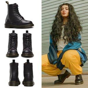 2020 Venta caliente unisex invierno de las mujeres La nieve caliente hombres de la motocicleta de los hombres clásicos de las mujeres martas Doc Martin Oxfords botas Shoes Zapatos de AzBF #