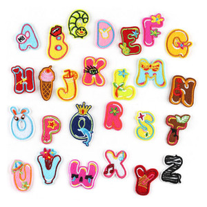 5 Style A-Z English Alphabet Letter Mixed Embroidered Iron On Patch Badge Paste For Clothes Bag Pant Sewing