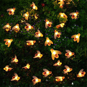 20LED 30LED 40LED Bee Shaped LED String Lights Battery Operated Christmas Garlands Fairy Lights For Holiday Party Garden Decor