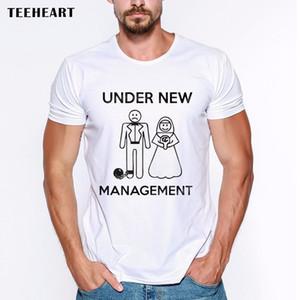 2019 Erkek En Çok Satan Adam Altında yeni yönetimi - Just Married İşaret Komik Şaka Erkekler Tişörtlü Tee Yaz Tee Gömlek