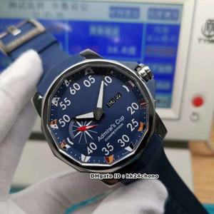 3 Styles Hochwertiger Admiral Cup Competitionl 48mm ETA7750 Automatik Herrenuhr Tmmitanium Lünette blaues Zifferblatt Kautschukband Herrenuhr