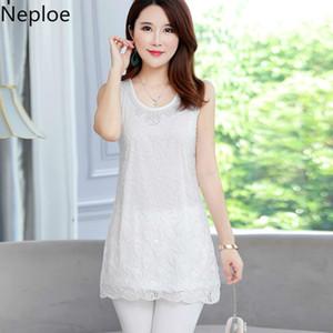 Neploe 2020 de verano de Corea del largo blusas de las mujeres remata la capa de encaje rebordear moda de gran tamaño Blusas doble de alta calidad de la blusa 38945