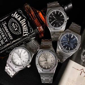 Audemars Piguet ap 6 Стиль Высокое качество Черный Sapphire Мужские часы 41мм автоматические движения Мода механические часы ROYAL OAK 15400 # Wristwatches Институт i4cp