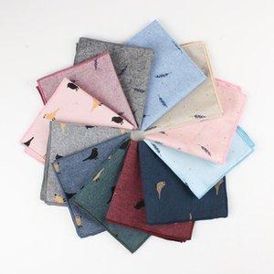 Men 's Square Cotton Handkerchief Karikatur druckte Anzug Taschentuch Anzug quadratischer Schal Fliege