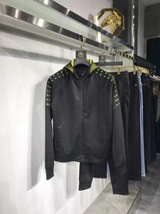 2020 outono e inverno de luxo designer de mens fatos de treino capuz preto ~ CHINÊS TAMANHO Sweatsuit ~ mens formação movimentar-se fatos de treino suor