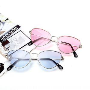 sol ojo de gato de metal de los nuevos vidrios del ojo de vidrios de forma personalizada las mujeres de los hombres y Océano de Sun Film