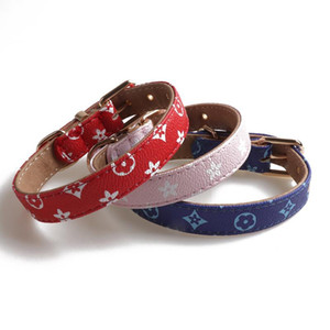 Pets Collars Classic Pattern PU Leather Fashion Adjustable Brand Pet Dogs Cats Leashes Outdoor Personality Cute Pet Collar 1pcs cny1839