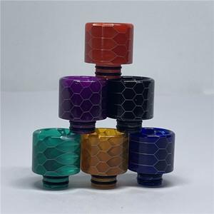 Самая лучшая продавая Ecig Красочный змеиную кожу Drip Tip 510 сота Капельного Совет с конфетами для REBUILDABLE Tank