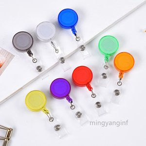 Retractable Badge Reel Badge Holders with Key Ring and Vertical Style Clear ID Card Holders multi-color MY-inf 0191