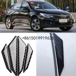 For KIA RIO Carens Sorento K5 Car Side Door Edge Guard Bumper Trim Protector 4pcs PVC carbon fiber Stickers