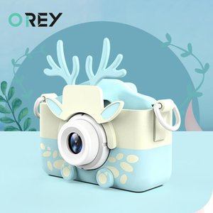 Mini cámaras digitales FOTOGRAFICAS juguetes para los niños de 2 pulgadas Chargable Fotografía linda del niño del bebé del regalo de cumpleaños de la cámara de fotos