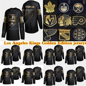 herhangi bir ad hokey forması Los Angeles Kings Altın Versiyon'un formaları 99 Wayne Gretzky 32 Jonathan Quick 11 Kopitar 8 Doughty özel herhangi bir sayı