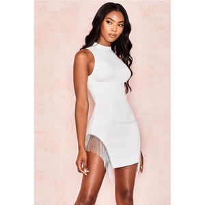 Новый белый Bodycon платье повязки девушки Tank Sexy женщин платья партии клуба платья мини моды
