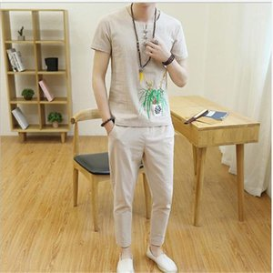 Button Sets Mens Designer Tracksuits Summer Casual Clothing Long Pants Embroidery Printed Fashion Mens Set with