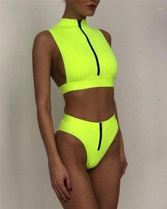 Bathing Suits Ladies Backless Swimsuit Summer 2 Piece Solid Color Bikini Womens Swimwear 2020 Womens Designer