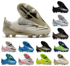 2020 nuevos zapatos de X Ghosted.1 FG para hombre Mujer de Boys Ghosted 0.1 con cordones de fútbol del fútbol Botas de Tacos de fútbol nos tamaño 6.5-11