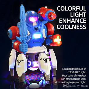Dancing Robot Electronic Six Claws LED Light Music Simulate Intelligent Action Figure Octopussy Animal Model Educational Toys Kid Gifts