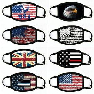 Взрослый Универсальная маска Fasion Флаг печати Маска Dust-Proof Wasale Adjustale Mask # 253