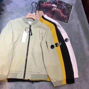 sonbahar erkek ceket moda spor Beyzbol üniforma harfler dijital baskı açık Kol rüzgar geçirmez su geçirmez tasarımı V boyun ceket gözlük