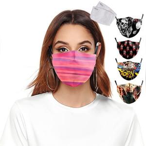 Защитные РМ2,5 DBZ фильтр Печати многоразового Рот Анти пыль маска ветрозащитной Регулируемых масков