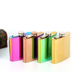 6 oz de alta calidad 100% aumentó la calidad petaca de acero inoxidable placa de oro 100% aumentó LX3017 inoxidable placa de oro