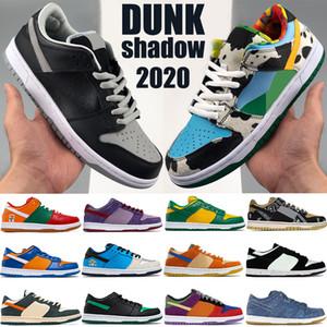 SB Sombra Dunky Chunky Mens Sapatos Casuais Dunk Travis Scotts Viotoech Plum Panda Panda Dune LX Canvas Branco Cinzento Instantâneo Baixo Homens Mulheres Sneakers