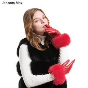 Jancoco Max 2020 genuino cuero de piel de oveja guantes de piel caliente invierno de las mujeres manoplas S2028