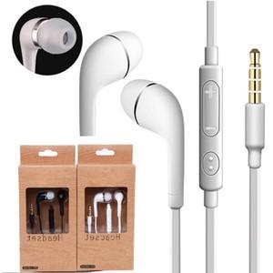 J5 Écouteur stéréo Écouteurs à oreillette 3.5mm Casque de nouilles à oreilles à oreilles avec micro et télécommande pour Samsung Galaxy S3 S4 S5 S6 Note 2 3 4