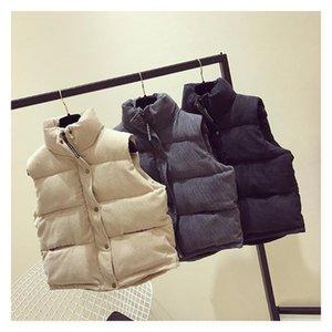 G9NdV 2020 velluto a coste shortstyle grandi dimensioni della vita di cotone imbottito giubbotto cappotto Wick vestiti cappotto della maglia cotone imbottito vestiti allentati delle donne