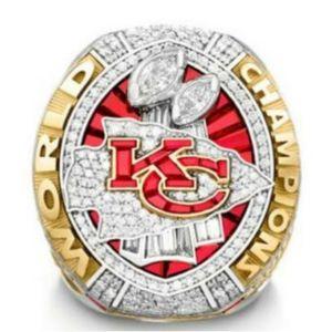 La joyería más nueva serie de campeonato de Kansas City Chiefs 2019 2020 Mundial de Hombres ventilador anillo de campeonato del regalo de la venta al por mayor 2019 envío de la gota