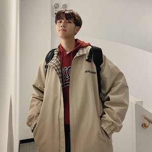 2020 overalls, men's Korean version trend, two side jackets, students' leisure, original accommodation, loose baseball suit