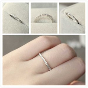 Silver Color 4~11 USA Size CZ Plated Simulated Eternity Rings for Men Women Wedding Zircon Crystal Bagues Anillos Ring Jewelry
