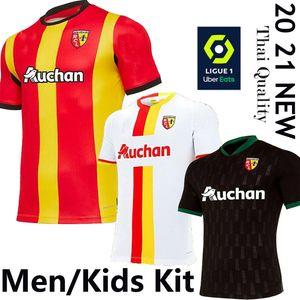 2021 RC Lens ev uzakta futbol formaları Gradit Fortes Cahuzac Perez 2020 2021 RC Lens maillot de foot Camisa de futebol Erkekler futbol Gömlek