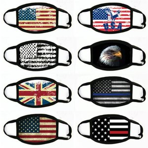 Отсутствие Маска Американские Избирательные Поставки пылезащитной Печати маска Универсальных для мужчин Женщина американского флага маски партии маски # 971