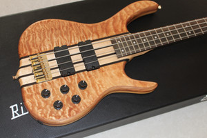 Custom 4 string one piece body Bass,rosewood Fingerboard 24 Frets,Active Pickups Gold Hardware