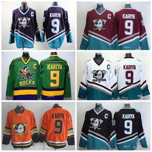 Anaheim Ducks 9 Paul Kariya Jersey Stadium Series 1993 Mighty Ducks Movie Mighty Hockey Jerseys Stitched