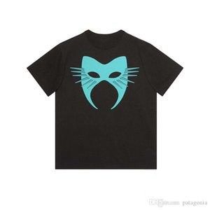 Luxury Mens Designer T Shirt Men Women Mask Summer T Shirt Hip Hop Black White Short Sleeve S-2XL